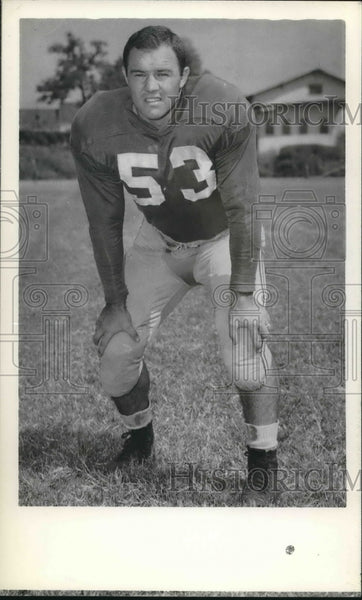 Press Photo Football player Ray McGallion in his uniform - sba07433 - Historic Images