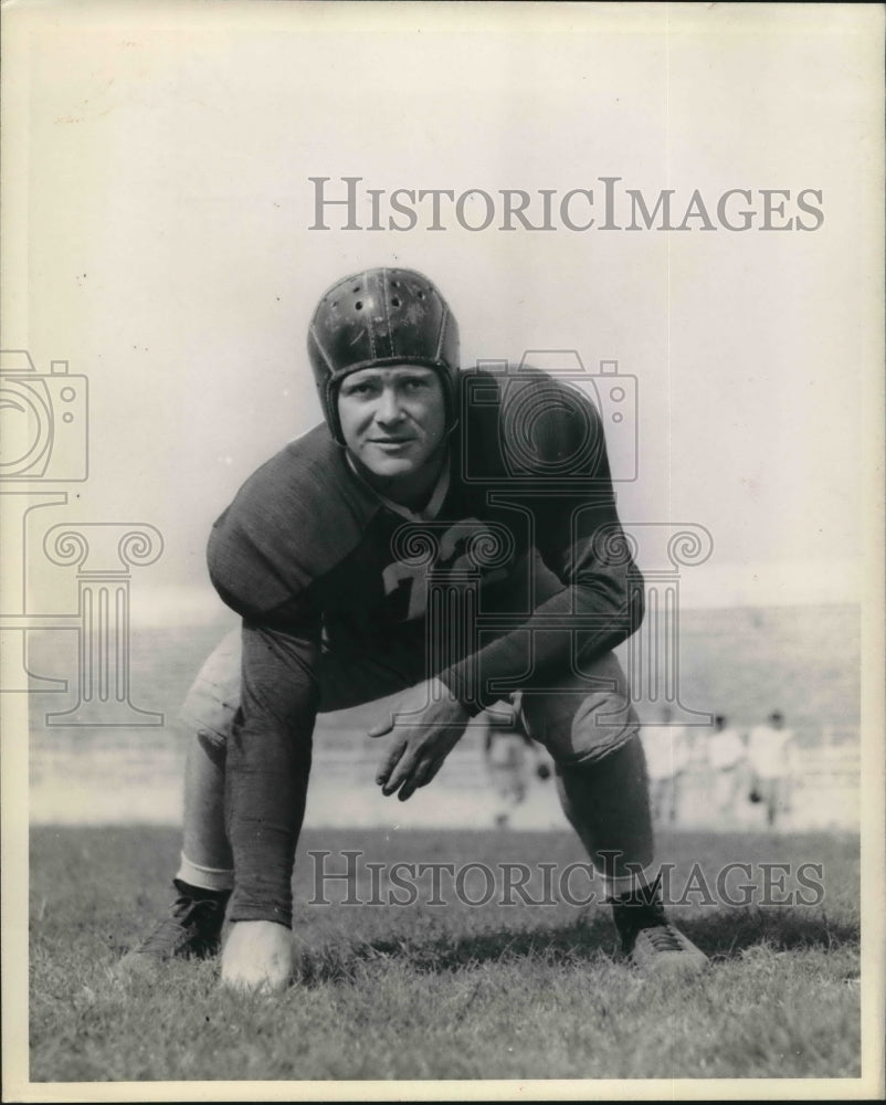 Press Photo Captain Zeke Flowers, T.C.U football - sba08280 - Historic Images