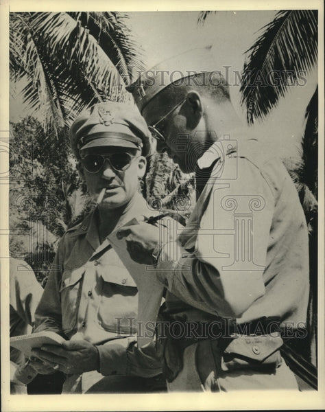 Press Photo Brig Gen Nathan F Twining & 14 Others Rescued From Coral Sea - Historic Images