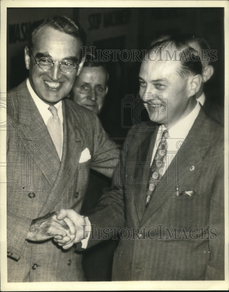 Press Photo James M Mead & NY State Attorney Gen John Bennett, Jr at Convention - Historic Images