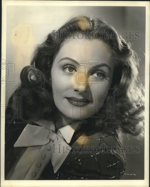 "Press Photo Virginia Huston Featured in Radio's ""Out of the Past"" - sbx14825 - Historic Images"