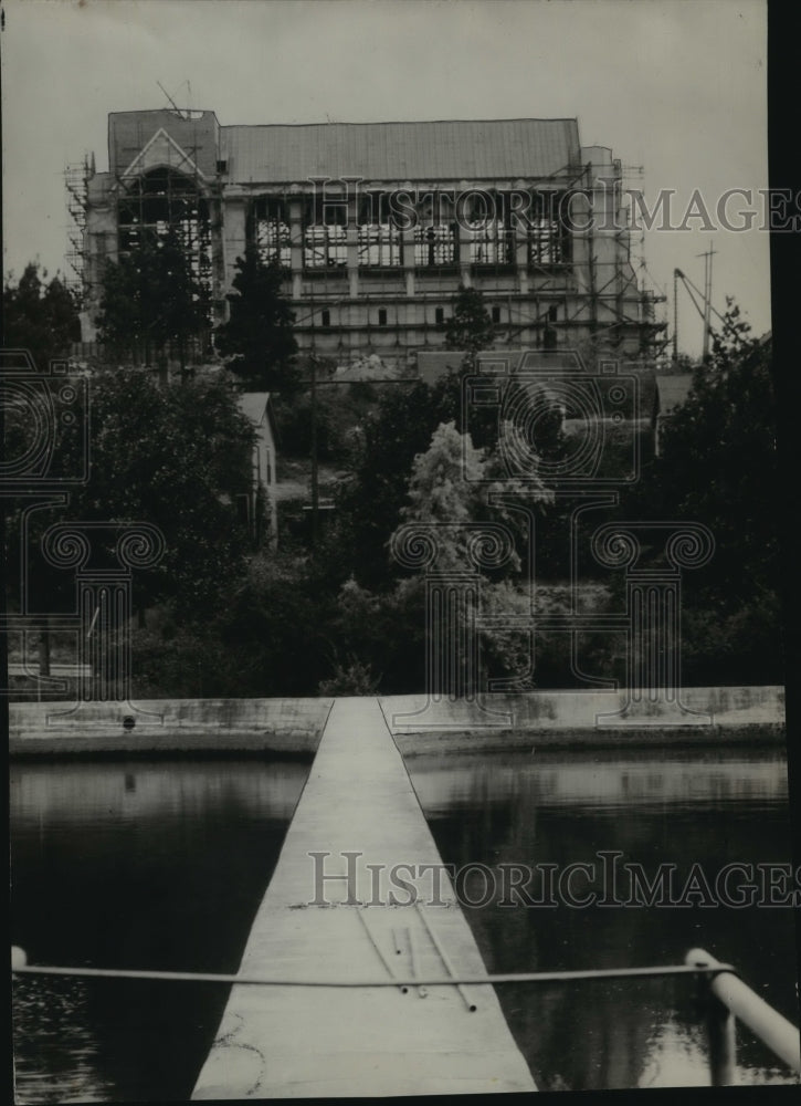 1929 Press Photo St. John's Episcopal Cathedral from City Water Works - Historic Images