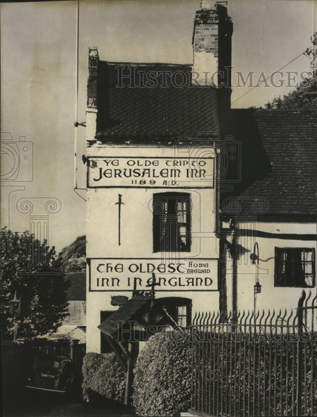 Press Photo Ye Old Trip to Jerusalem-oldest Inn in England, 1189 AD - Historic Images
