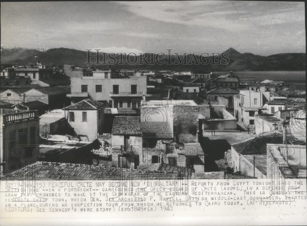 1940 Press Photo Gandia, in the island of Crete  which the British garrisoned - Historic Images