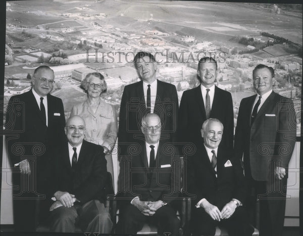 Press Photo WSU Board of Regents-Dr. French, Thomas Gose, Dr. Pitluck - Historic Images