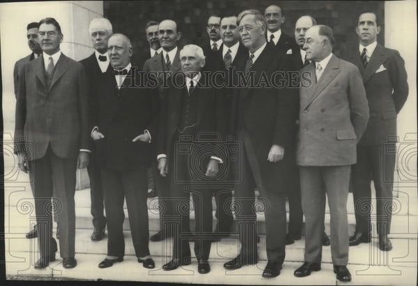 1923 Press Photo Members of the Pan-American Union honor Argentine Amb. Malbran - Historic Images