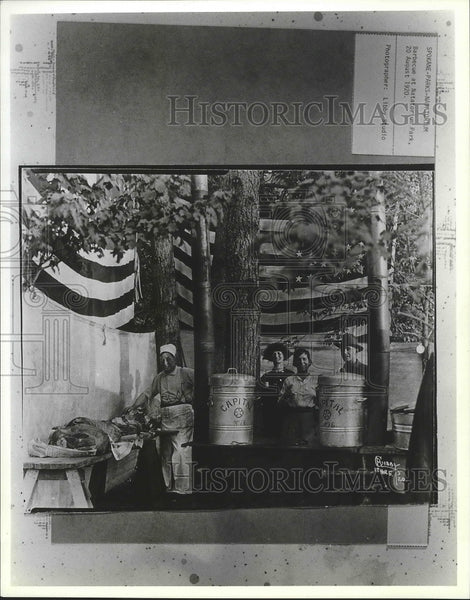 1920 Press Photo Barbecue at Natatorium Park, Spokane - Historic Images