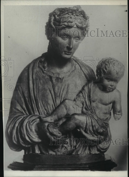 "1929 Press Photo ""The Virgin and Child,"" European work of art - Historic Images"
