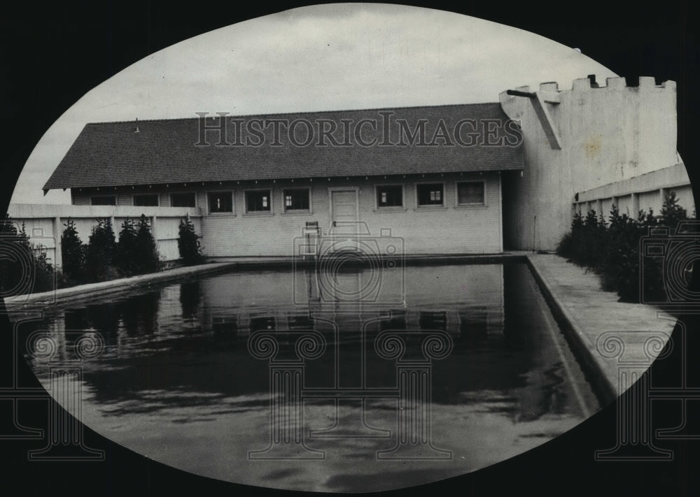1927 Press Photo Outdoor swimming pool - Historic Images