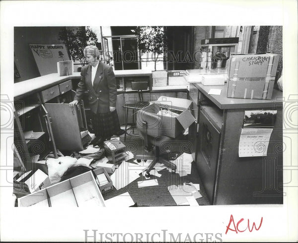 1993 Vandals broke into the YWCA building Friday and trashed rooms. - Historic Images