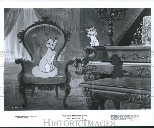 1968 Press Photo A scene from Walt Disney's animated film, The Aristocrats. - Historic Images