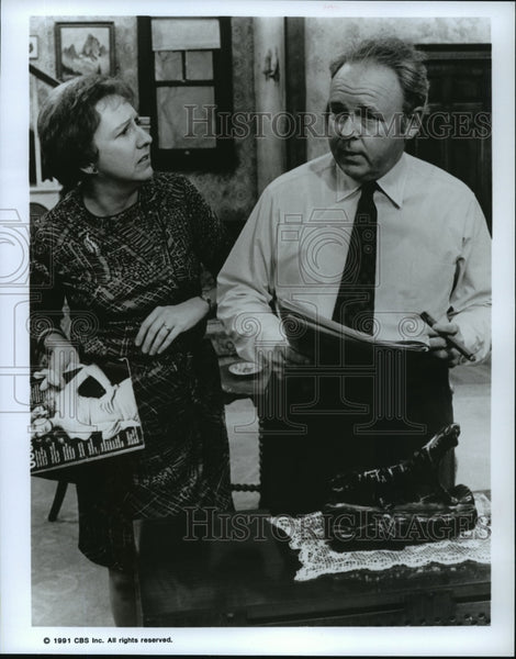 "1991 Jean Stapleton, Carroll O'Connor in ""All In The Family"" - Historic Images"