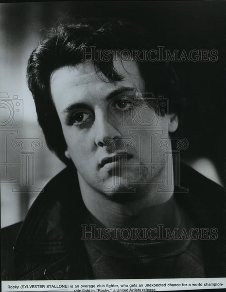 "1977 Press Photo Sylvester Stallone stars in ""Rocky"" - Historic Images"