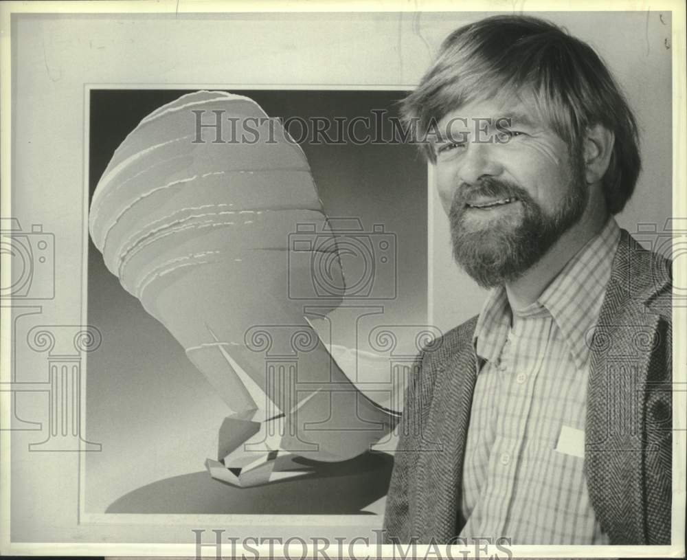 1982 Press Photo Carl Weis, Fine Arts Professor, Siena College, New York - Historic Images
