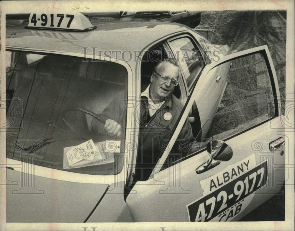 1977 James Neville, Pine Hill Taxi driver, Albany, New York - Historic Images