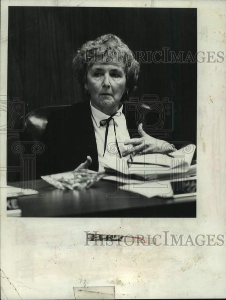 1980 Press Photo Margaret Schwarz, member South Colonie NY Board of Education - Historic Images