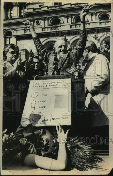 1975 Press Photo Civil Service Employees Association union rally in Albany, NY - Historic Images