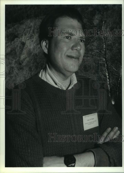 Press Photo Garry Nottis, Seismologist, at New York State Museum in Albany - Historic Images