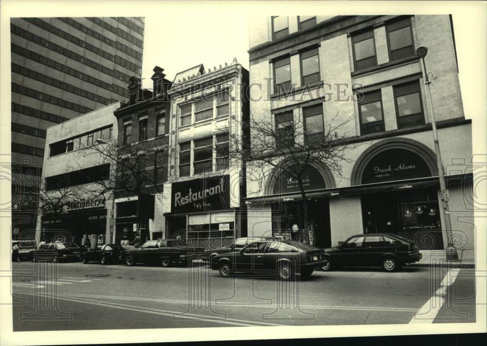 1987 Press Photo View of buildings along North Pearl Street, Albany, New York - Historic Images