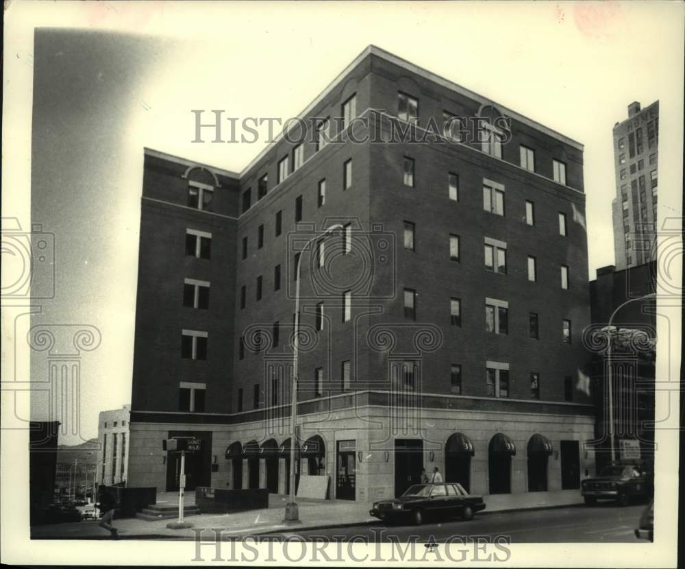 1986 Press Photo Building at 39 North Pearl Street in Albany, New York - Historic Images