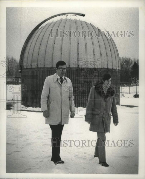 1981 Press Photo Glenville High School, Scotia, New York Astronomy Club members - Historic Images