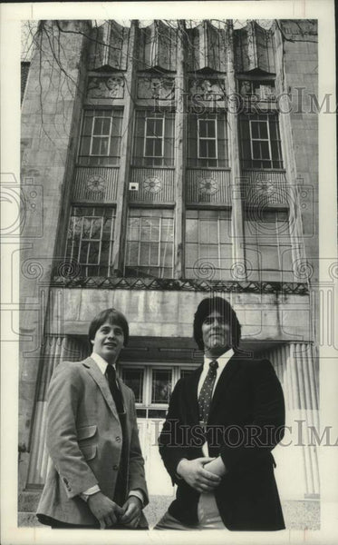 1982 Press Photo Watervliet, NY high school students selected for West Point - Historic Images