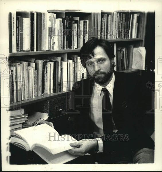 1985 Press Photo Larry Schell, State University of New York (SUNY), Albany - Historic Images