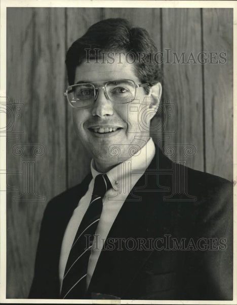 Press Photo Dave Sawyer, Democratic political candidate, Bethlehem, New York - Historic Images