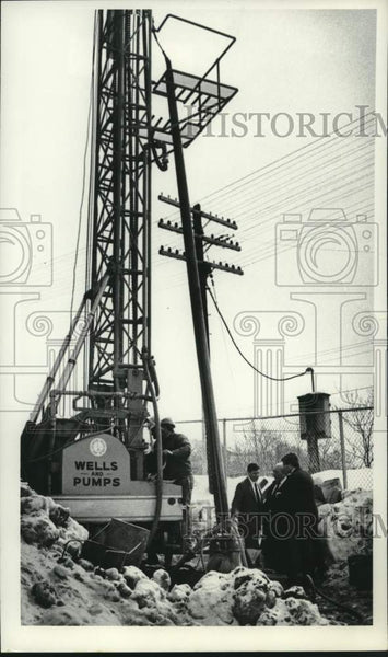 1982 Press Photo Schenectady, New York solid waste transfer station - tua16236 - Historic Images