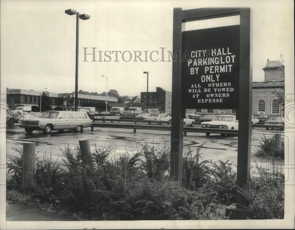 1980 Press Photo Parking lot for Schenectady, New York City Hall employees - Historic Images