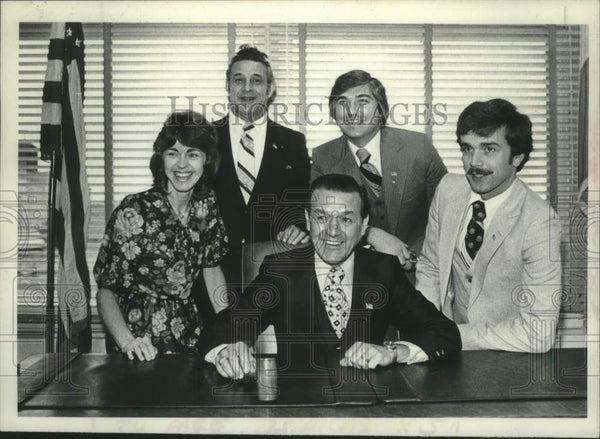1980 Press Photo Members of Schenectady New York County Board of Representatives - Historic Images