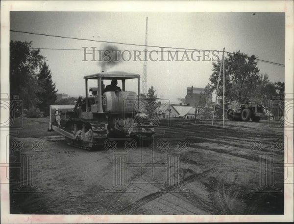 1979 Press Photo Construction of Schenectady, New York Fire Station - tua16988 - Historic Images
