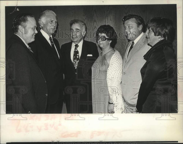 1977 Press Photo Republican politicians meet in Schenectady, New York - Historic Images