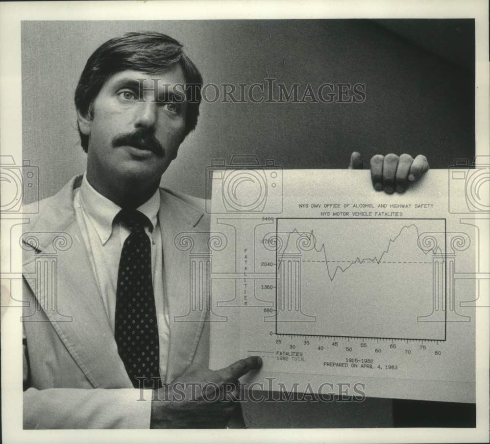 1983 Press Photo Drunk Driving Task Force director speaks in Albany, New York - Historic Images