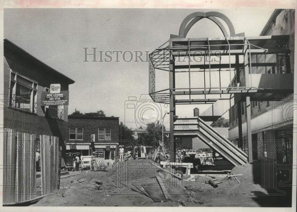 1980 Press Photo Construction of 400 Plaza, Smith Street, Schenectady, New York - Historic Images