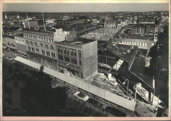 1978 Press Photo Aerial view, 400 block of State Street, Schenectady, New York - Historic Images