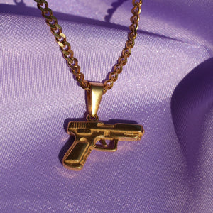 Girl Gang Pistol Pendant Necklace