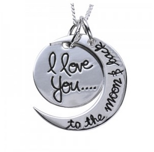 STERLING SILVER 'LOVE YOU TO THE MOON AND BACK' NECKLACE