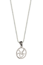 STERLING SILVER HEARTS IN CIRCLE NECKLACE