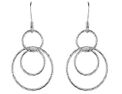 STERLING SILVER OPEN CIRCLE DROP EARRINGS