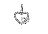 Load image into Gallery viewer, STERLING SILVER CZ HEART NECKLACE