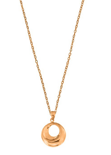 ROSE GOLD OPEN DISC NECKLACE