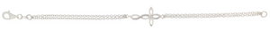 STERLING SILVER CZ OPEN CROSS BRACELET
