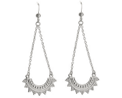 STERLING SILVER BOHO DROP EARRINGS