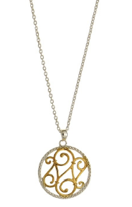 STERLING SILVER + GOLD PLATE FILIGREE NECKLACE
