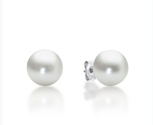 STERLING SILVER 9MM PEARL STUDS