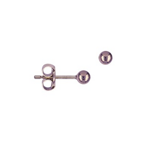 9CT ROSE GOLD 3MM BALL STUDS