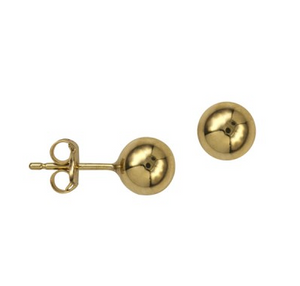 9CT YELLOW GOLD 6MM BALL STUDS