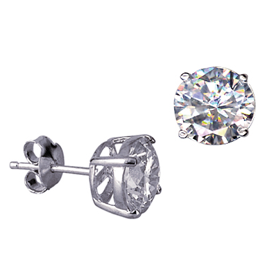 STERLING SILVER 8MM CZ STUDS