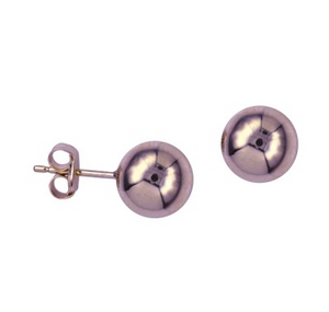 9CT ROSE GOLD 8MM BALL STUDS